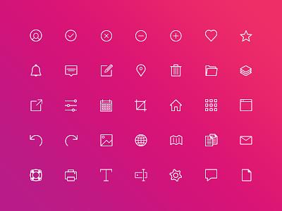 Icons Dribbble ui icons line icons icon set