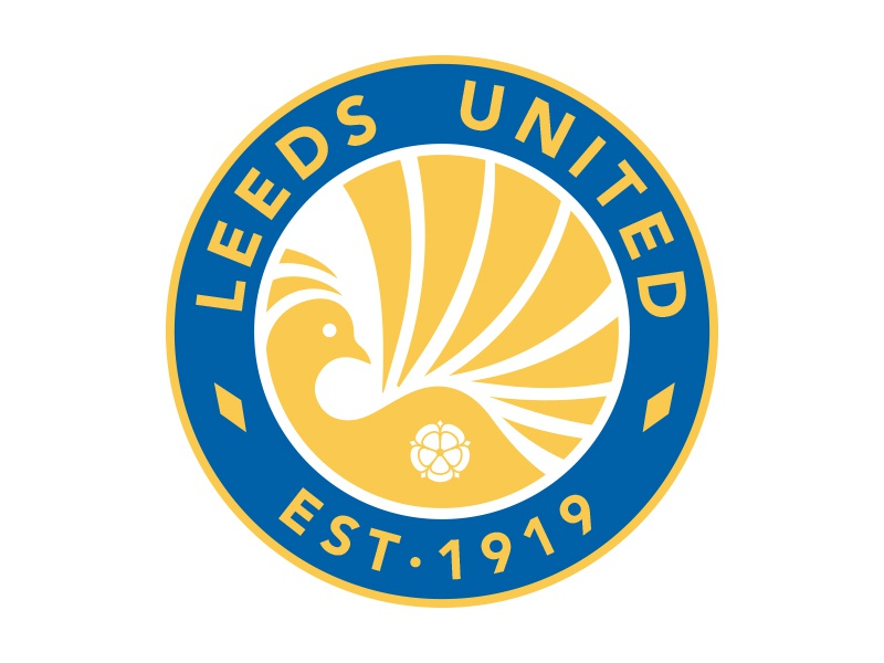 Leeds United Crest soccer sports crest logo branding football
