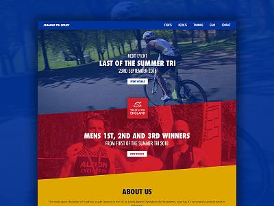 Summer Tri Series triathlon running cycling swimming sports homepage athlete website web design ui ux
