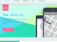 Completion of the Colorful Matte UX design template
