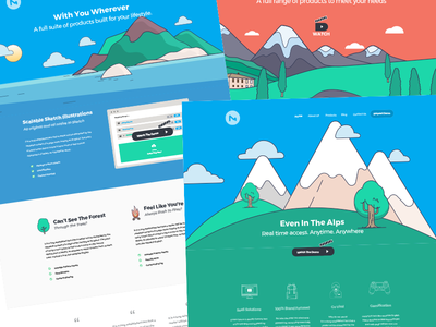 All Sketch Vector and Amazing Saas Template