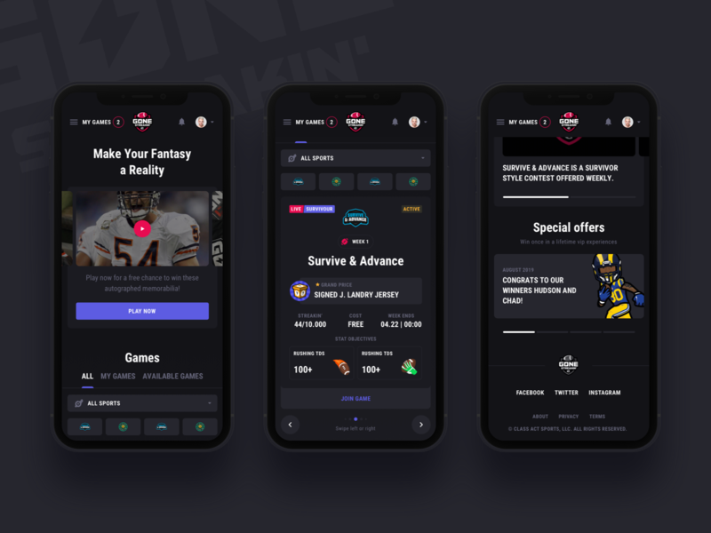 Gone Streakin: Responsive betting sportbook offers winner dark app dark ui bet cuber sports fantasy sports darkinterface cybersport gone streakin