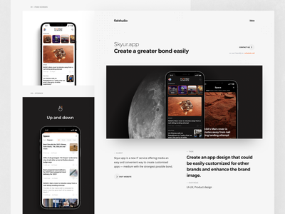Case study: Skyur.app ny times usa today open articles category page stories nocode nocodeapp portfolio articles news app ios news ios app skyur.app case study