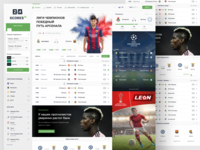 Scores24: Football main page