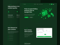 Yours: Landing page