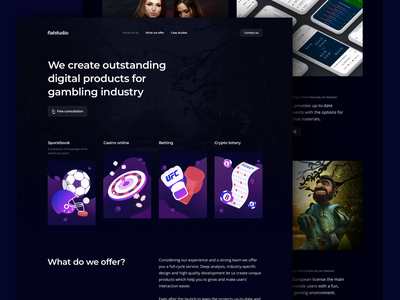 Flatstudio: All bets are off. dark interface sportbook casino lottery crypto betting crypto betting casino online flatstudio