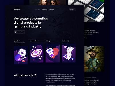 Flatstudio: All bets are off. dark interface sportbook casino lottery crypto betting crypto betting casino online flatstudio