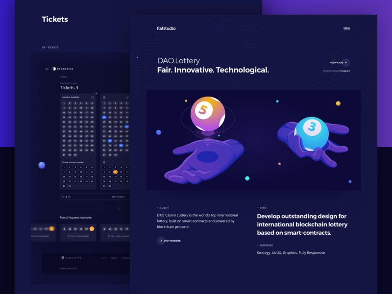Case study: DAO.Lottery portfolio presentation showreal igambling gambling bets bet lottery game games blockchain protocol blockain lottery case study