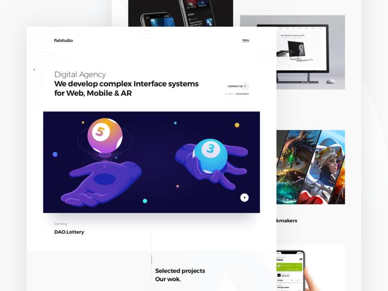 Flatstudio: New website interface team design team support agency mobile agency design agency web interface systems digital agency flatstudio