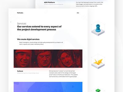 Flatstudio: Services flatstudio fonts landing design website design agency design studio digital services services page services