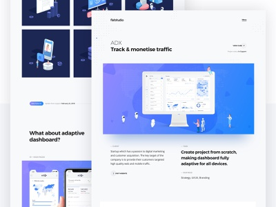 Case study: ADX web service gradient app 3d illustrations presentation track tracking dashboard analytics admin panel adx case study