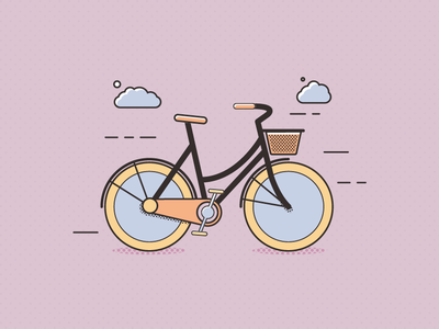 I don't believe in Peter Pan bicycle illustration