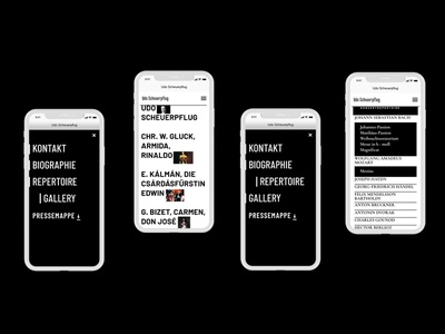 Tenor Udo Website mobile ui mobile opera gallery typogaphy music ui design uiux ui webdesign web website design