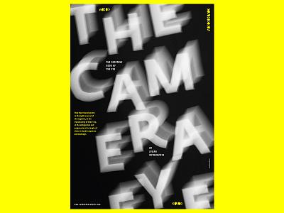The Camera Eye poster design graphic design design camera colours poster