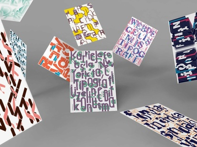 POSTCARDS FOR TYPOGRAPHIC WRITINGS