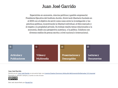 Garrido.pe site homepage web simple clean css