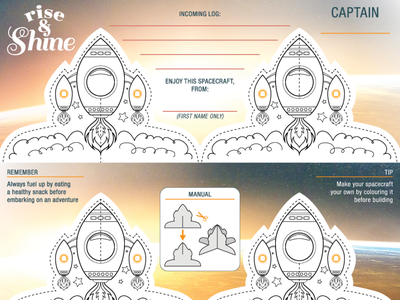 Printed Materials indesign illustrator photoshop design illustration printed material shine rise rocket spaceship