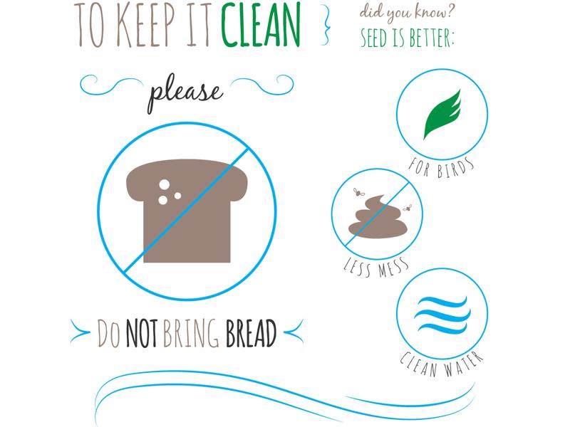 Bird Sanctuary Sign illustration illustrator vector seed clean bird iconography print signage