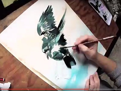 Crow Video (WIP) learn watch painting demo gopro youtube video