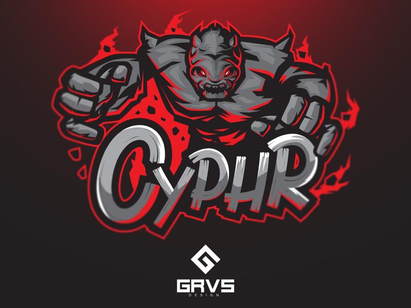 Cyphr esport team logo graphic vector design mascot logo sport esport