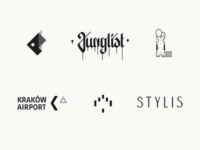 Logotypes. vector branding typography logotype
