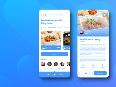 Homemade food Delivery App Concept modernism application food app app concept details page homepage homemade food homemade food userinterface modern design modern branding app android ux ui minimalist simple