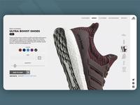 Adidas Web Page Concept