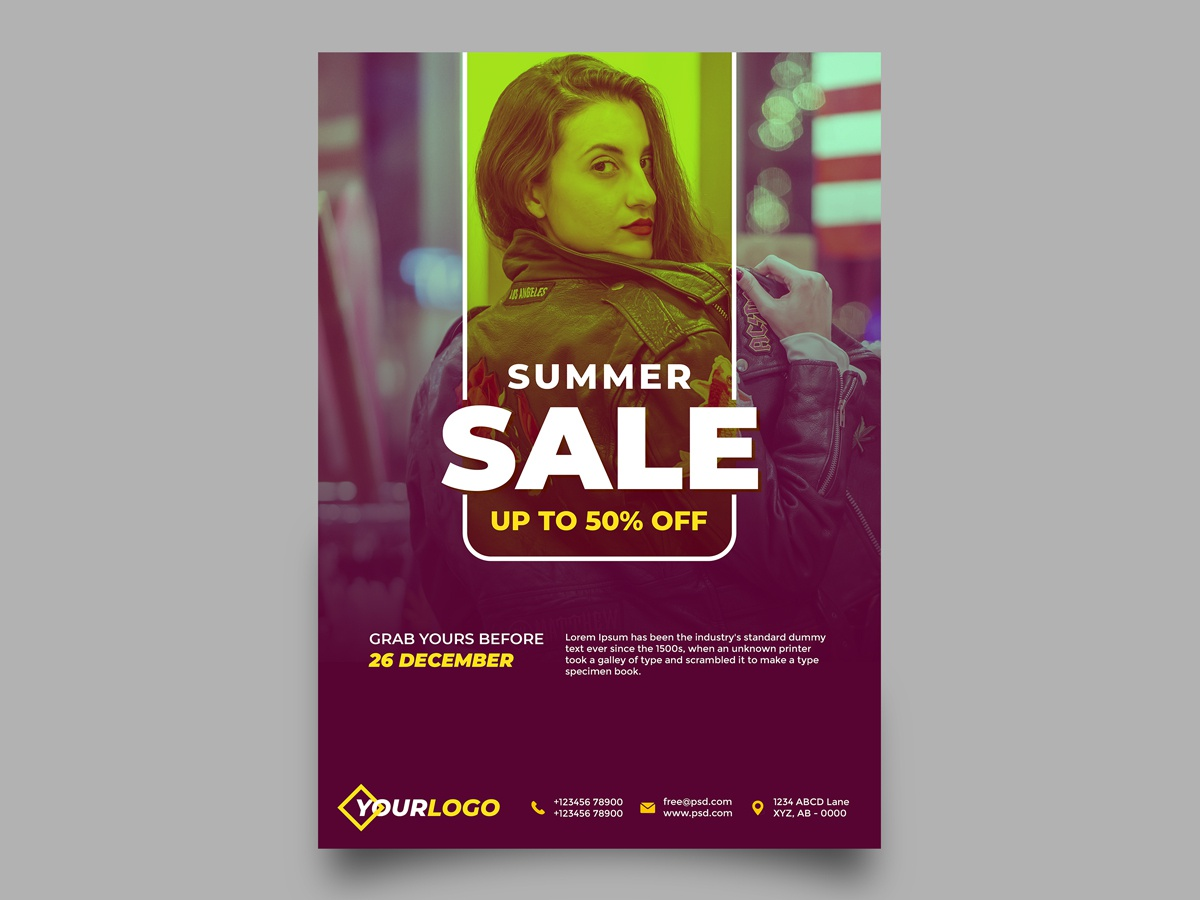 Summer Sale Fashion Flyer graphicdesign designer print designer print design print flyers flyer artwork flyer design flyer learning practice branding minimalist design illustration simple