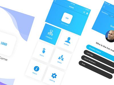 Quiz Mobile App android app ios logo design app design art icon photoshop ux branding ui design