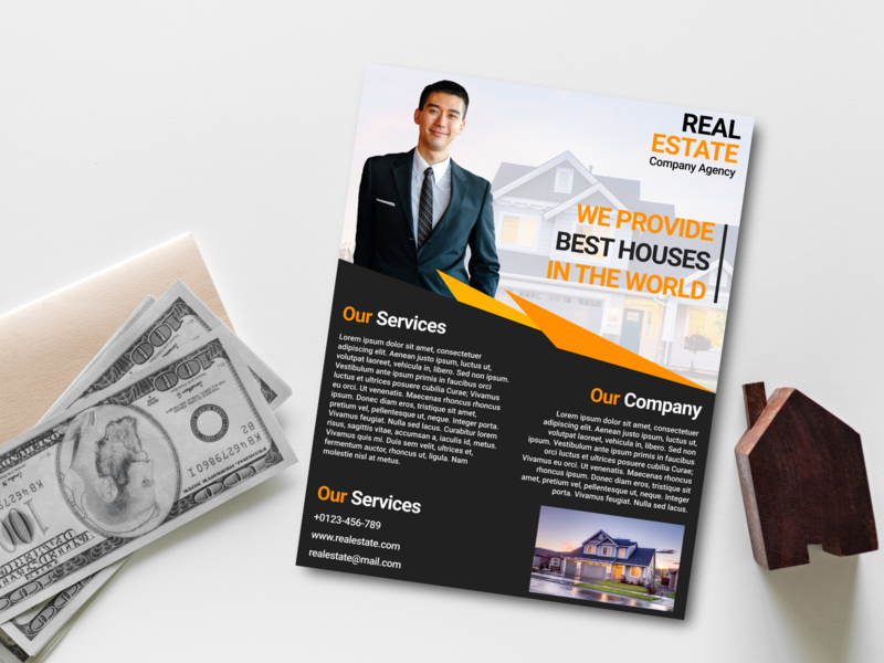 Real Estate Business Flyer And Brochure Design Template By Saidi