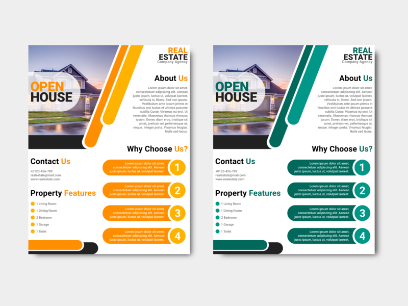 open house real estate business flyer design template by saidi creative