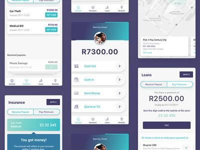 Cash management app fintech cash management banking app design