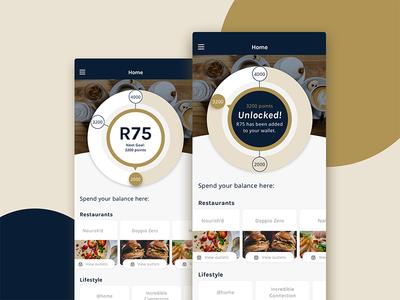 Points tiering concept tiering wallet rewards banking app design