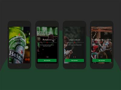 Personal bartender concept mcommerce ordering bartender app design