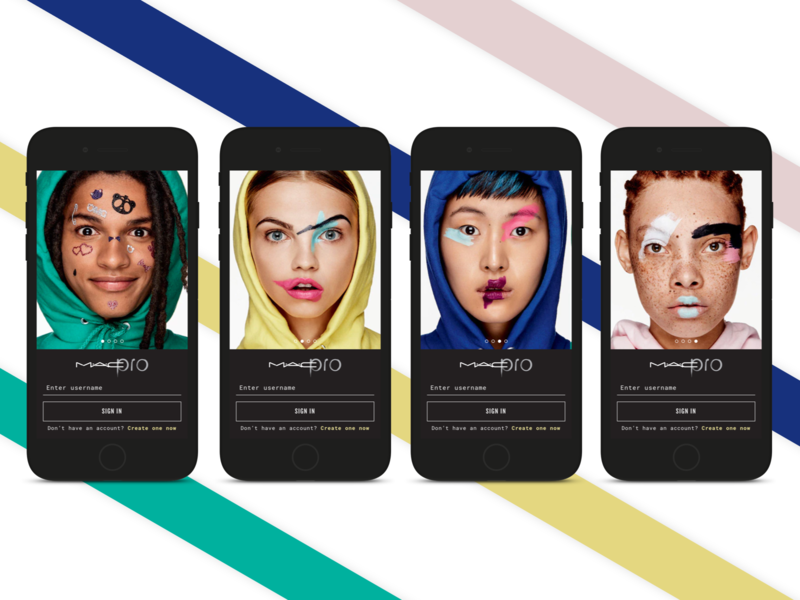 MAC makeup walkthrough concept app design splash onboard app flow ui design mac makeup color user interface walkthrough