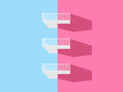 36 Days of Type - E balcony vector building colour shadow architecture type illustration 36daysoftype 36days-e