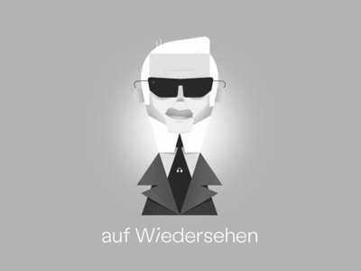 Karl Lagerfeld legend portrait black and white fashion icon illustrator character illustration vector