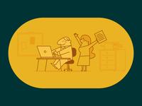 Legal Systems startup data office cartoon illustrator character vector illustration