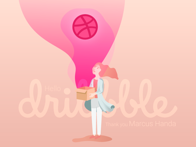 Hello Dribbble hello dribbble first shot illustrator illustration