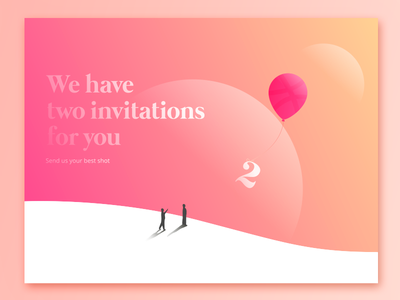 2 Invites for 2 talented people play the game invitations dribbble invites