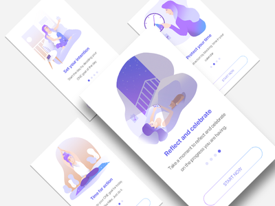 True North onboarding app norway logo ux illustration onboarding