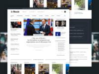 Redesign - Le Monde