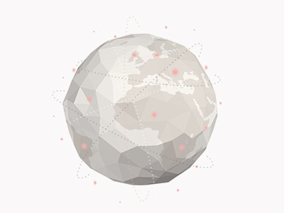 Roam / Globe globe planet travel trip 3d countries journey low poly path places road earth