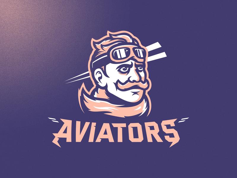 Aviators m7d illustrator london grunge design football esports aviator airplane plane sports logo