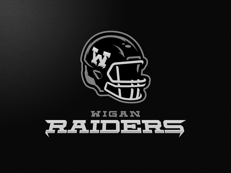 Wigan Raiders skull m7d illustrator london grunge design football esports sports logo