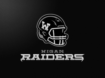 Wigan Raiders skull m7d illustrator london grunge design football esports sports logo