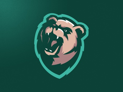 Bears Logo illustration angry skull mascot london grunge design esports football sports logo bear