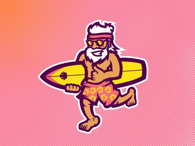 BWSC illustration cartoon illustration sea surf cartoon branding mascot illustrator design esports sports logo