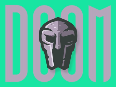 MF DOOM hiphop rap music illustrator doom mascot logo mf doom