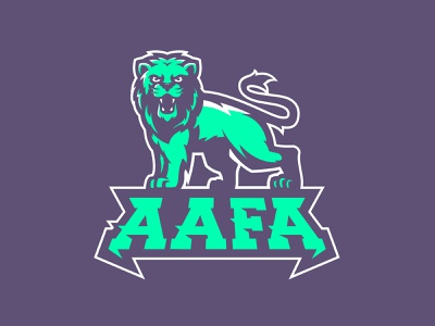 AAFA army mascot grunge m7d lion logo tiger lion illustrator design football esports sports logo